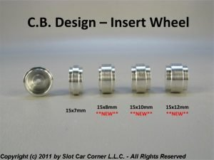 CB Design CBD1150 Insert Wheels 15x11mm (Silver)