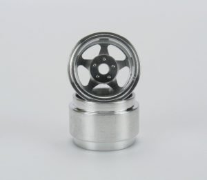 CB Design CBD0010 5-Spoke Racing Wheels 15x8mm (Silver)
