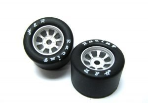 H&R HR1108 Nascar Rear Silver Wide Wheels with Silicone Tires
