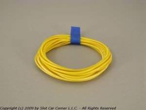 Slot Car Corner SW-03200 SCC Silicone Motor Lead Wire Yellow (3 Feet)