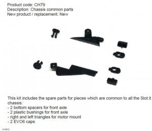 Slot.It SICH79 Chassis Common Parts Kit