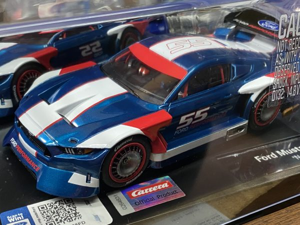 Carrera 27637 Ford Mustang GTY #55 Blue