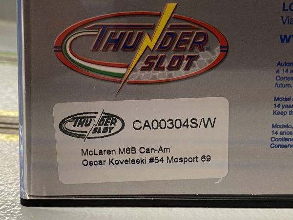 Thunderslot THCA00304S/W McLaren M6B Oscar Koveleski Auto World Mosport 1969, #54