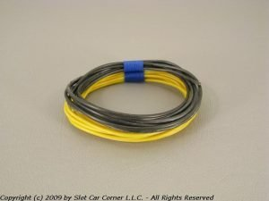 Slot Car Corner SW-10300 SCC Silicone Motor Lead Wire Black & Yellow (10 Feet)