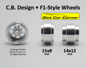 CB Design CBD0755 F1/Modified 15.8 x 8.2mm Aluminum Wheels