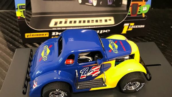 Pioneer '37 Dodge Coupe Legends Racer Sunoco Blue-Yellow #14 P129